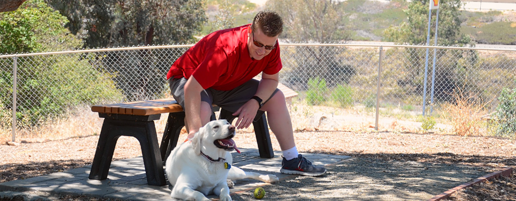 Dog park at Escondido RV Resort